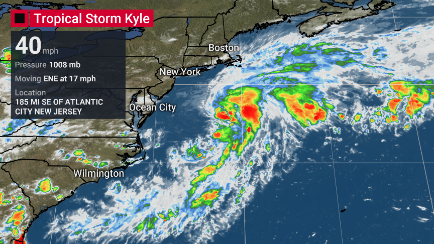 "NEW: Tropical Storm #Kyle has formed in the Atlantic, becoming the earliest ""K"" storm in history, breaking the previous record set by #Katrina on August 24th.  This also marks the 7th storm of the 2020 season to break an earliest naming record. https://t.co/cAsrOwdoZm"