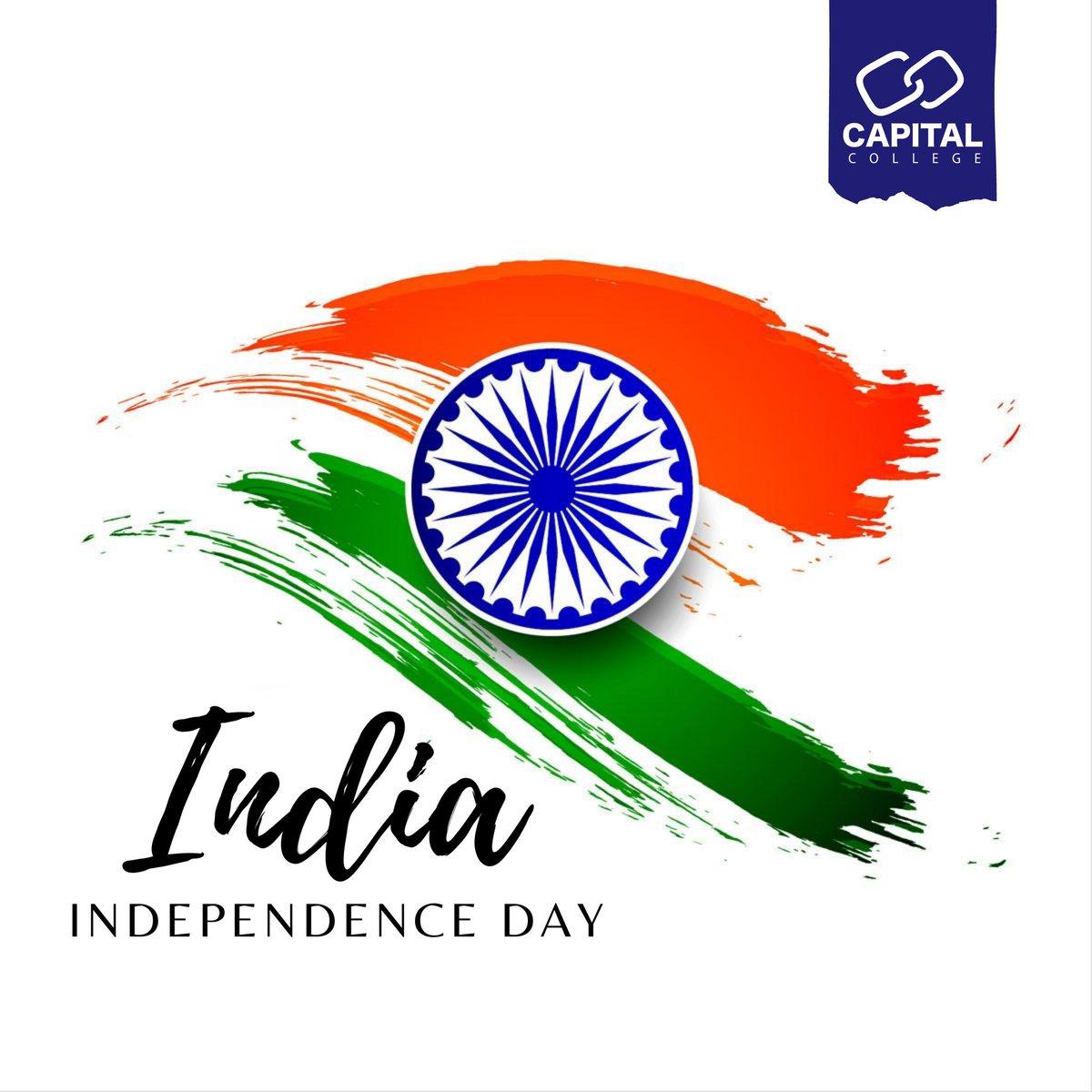 May your spirits rise with the flag today!   Happy Independence Day!  #independenceday #india #Capital #Capitalcollege #mydubai #Education #sharjah #Dubai #UAE #ajman #السعودية #الامارات #ابوظبي #الشارقة https://t.co/PMDh8qkVrA