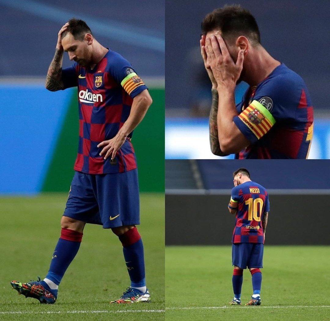 Que tristeza habernos acostumbrado a ver esta imagen.  Por el bien del fútbol: o renueven casi todo el plantel o déjenlo salir (del #FCBarcelona 🇪🇸).  No podemos desperdiciar los últimos años de Lionel #Messi 🇦🇷 de esta manera. https://t.co/L4prmTnzMI