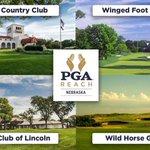 Image for the Tweet beginning: PGA Reach Nebraska's silent auction