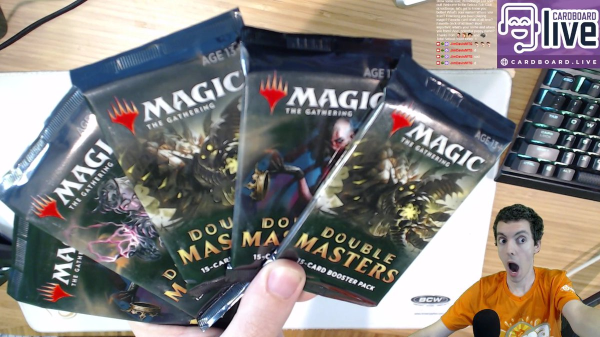 💰😎💰  Opening my 10 Double Masters prize packs from winning the Standard MTG Arena Championship at #GenCon2020 #humblebrag  Then it's Modern White Devotion and Pioneer Minotaur Combo!  https://t.co/Pm4KH2VGpD  @CoolStuffInc @CoalesceAD @BCWSupplies @cardboardlive https://t.co/CSa1RhD7M9