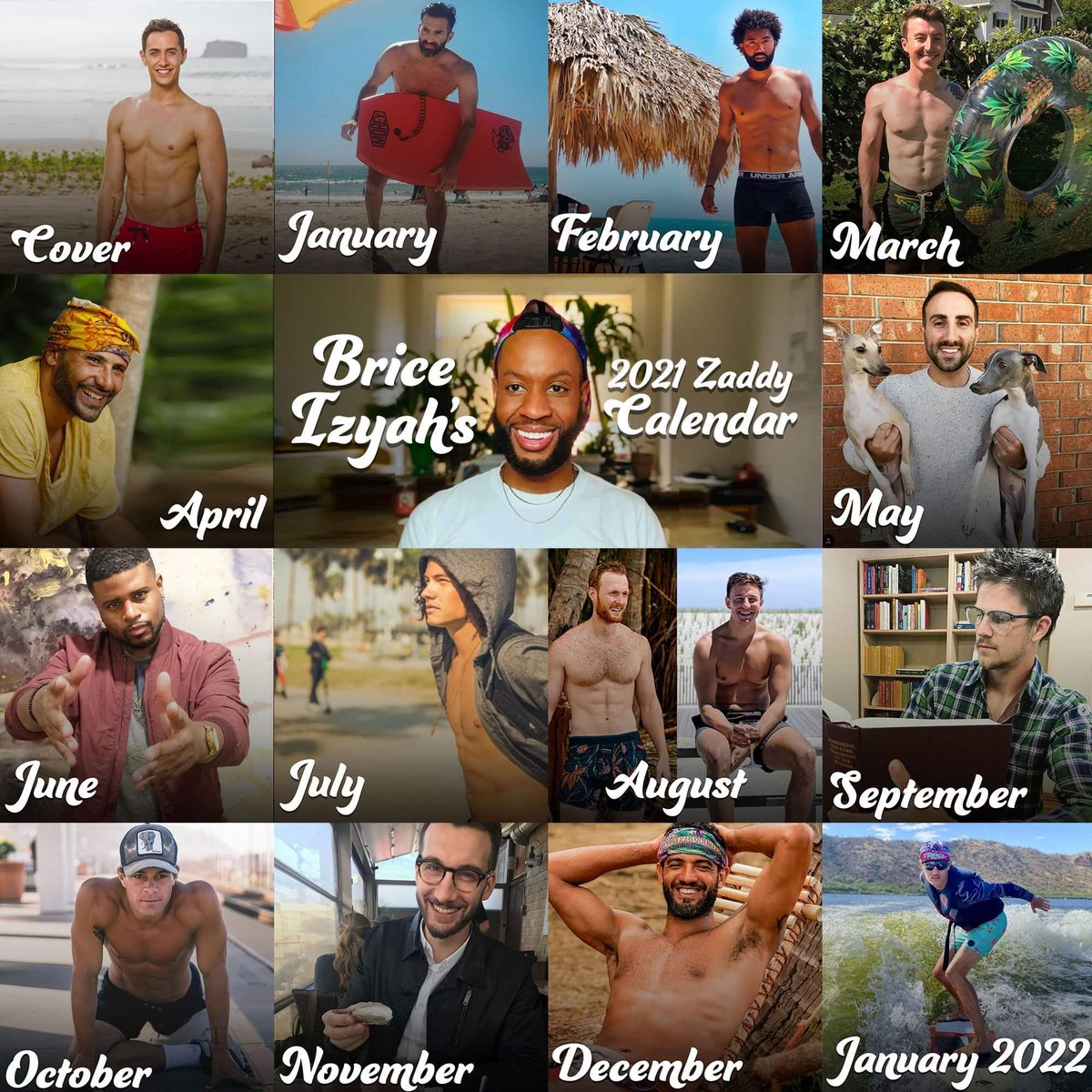 Stephen Fishbach On Twitter I M Deeply Honored To Be The November Zaddy For Briceizyah S 2021 Zaddy Calendar And Especially Honored To Be Both The Oldest Zaddy And The Zaddy Pictured Wearing The