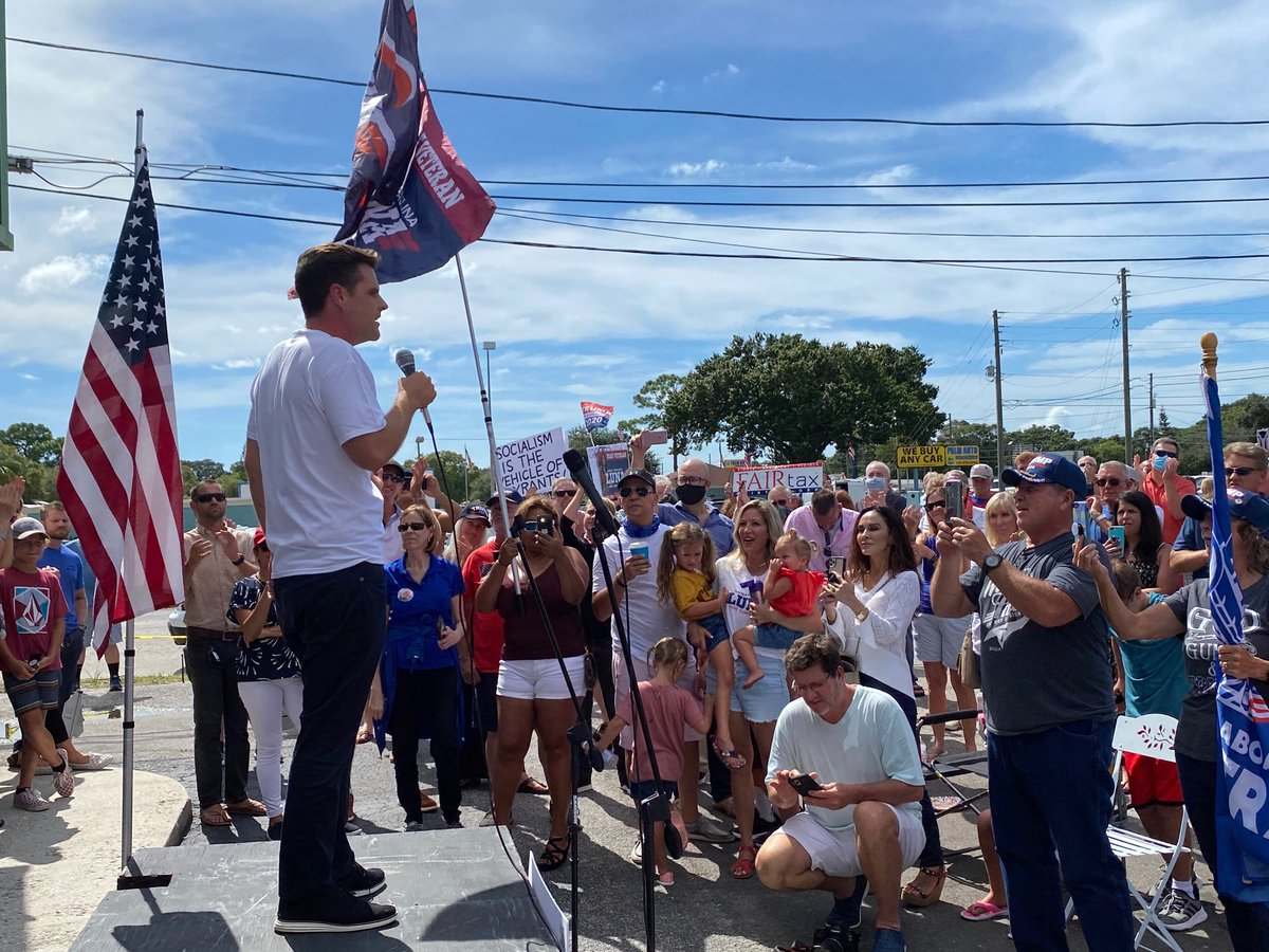 Honored to campaign today in Largo for @realannapaulina!