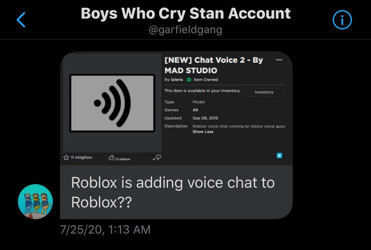 How To Make A Voice Chat System In Roblox Redstickgames Redstickgames Twitter