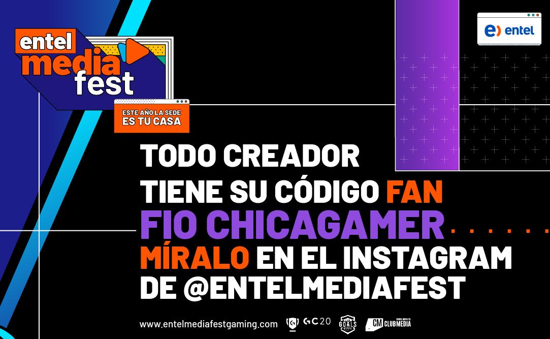 Fio ChicaGamer trae su Código Fan al #EpisodioGaming del #EntelMediaFest  ¡Ve a nuestro Instagram y sorpréndete!  #FioChicaGamer te espera para acompañarte en el #EpisodioGaming del  #EntelMediaFest  #ClubMedia