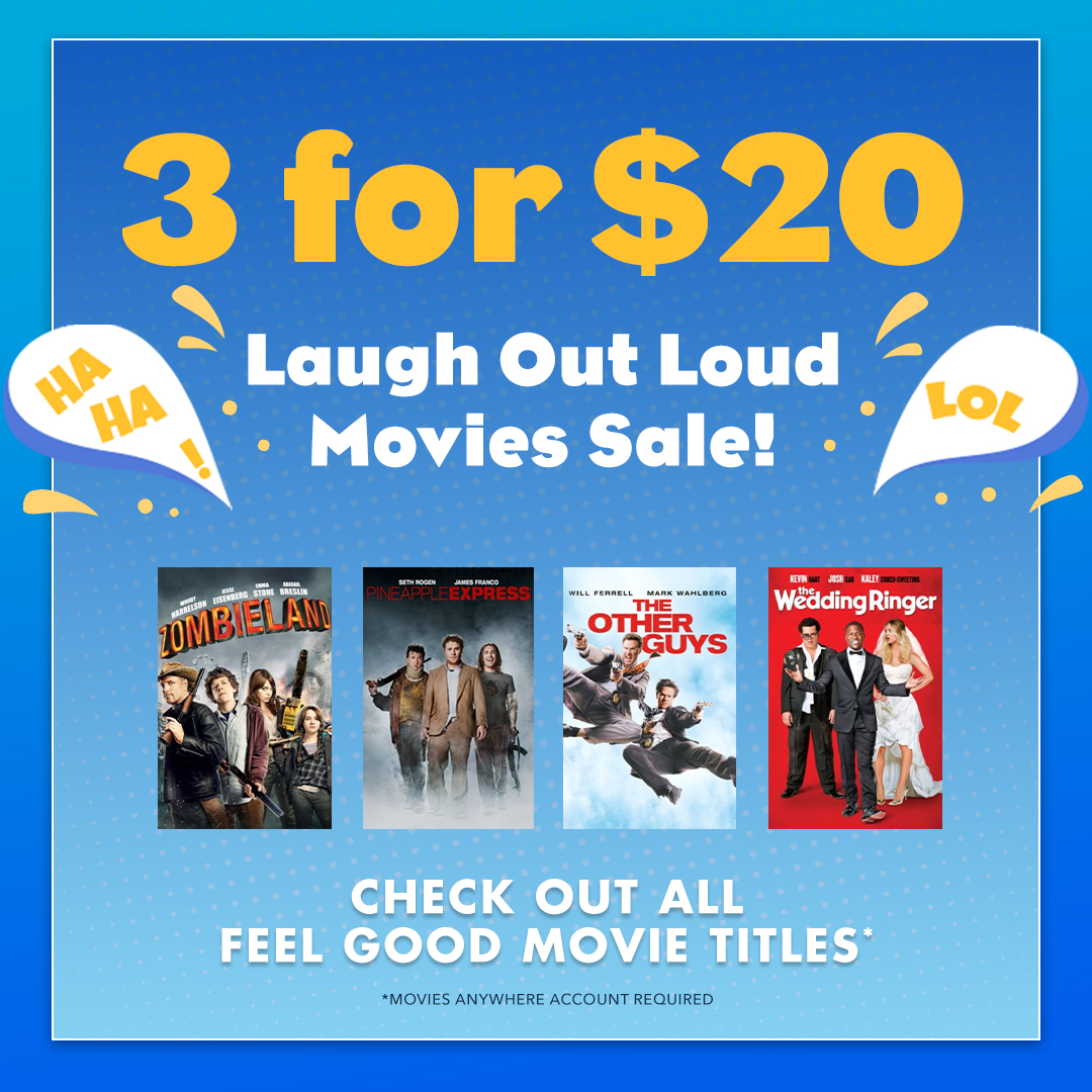 Get #Zombieland and other laugh out loud movie favorites on sale now. Pick 3 Digital movies for $20!   https://t.co/rTh332yjLV  * @Movies_Anywhere account required. https://t.co/qVvvgWsZQm