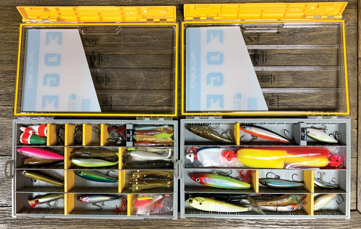 Is your storage solution customized like this? Make your own tackle box with @plano Edge Flex. Learn about total customization from Planos Charlie Davis and In-Fishermans Rob Neumann in the 2020 ICAST Fishing Gear Guide video at bddy.me/3h21dDs. #Tacklebox #Fishinggear
