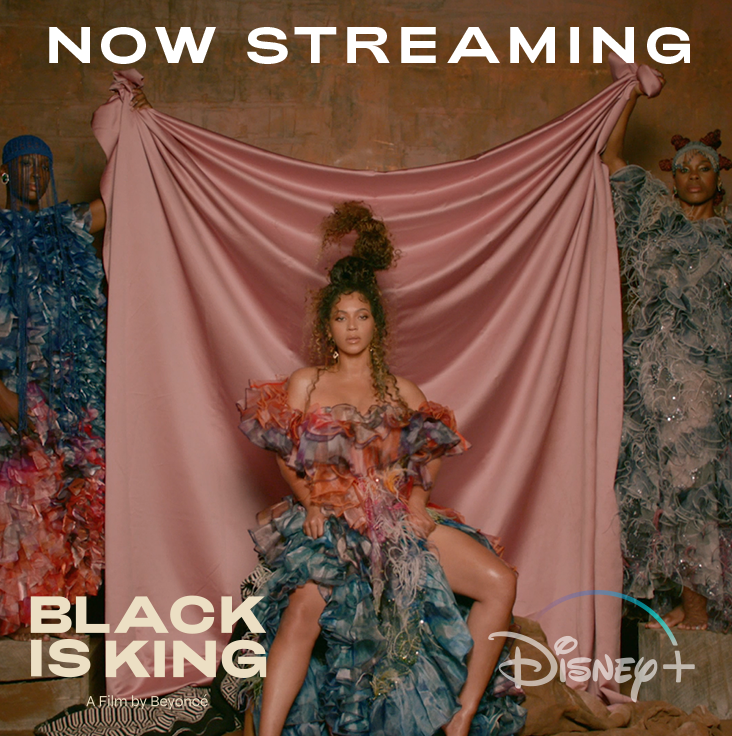 What a thing to be unlike any other. #BlackIsKing, the new visual album from Beyoncé, is now streaming on #DisneyPlus.