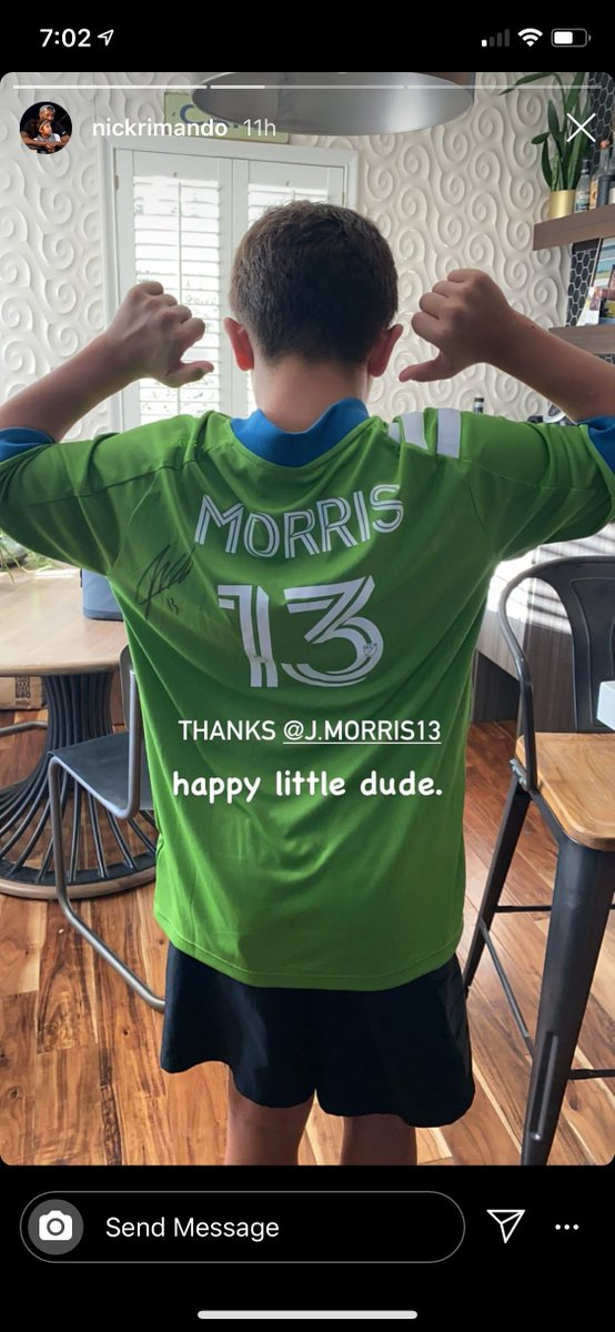 What a guy! 👏  @JmoSmooth13 hooked up @NickRimando's son with an autographed jersey. https://t.co/kNLIbUiafF
