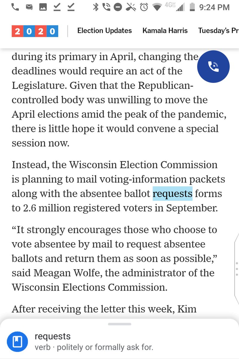 "@Hailey_Fuchs @nytimes @lukebroadwater @NYTnickc ""the absentee ballot requests forms"" should say ""the absentee ballot request forms.""  Generally, when using a noun as an adjective, you want to use its singular form. https://t.co/CP5F7l1Knv"
