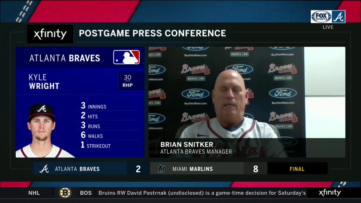We probably played one of our poorest games in the last two years. — Brian Snitker on Braves 8-2 loss to the Marlins