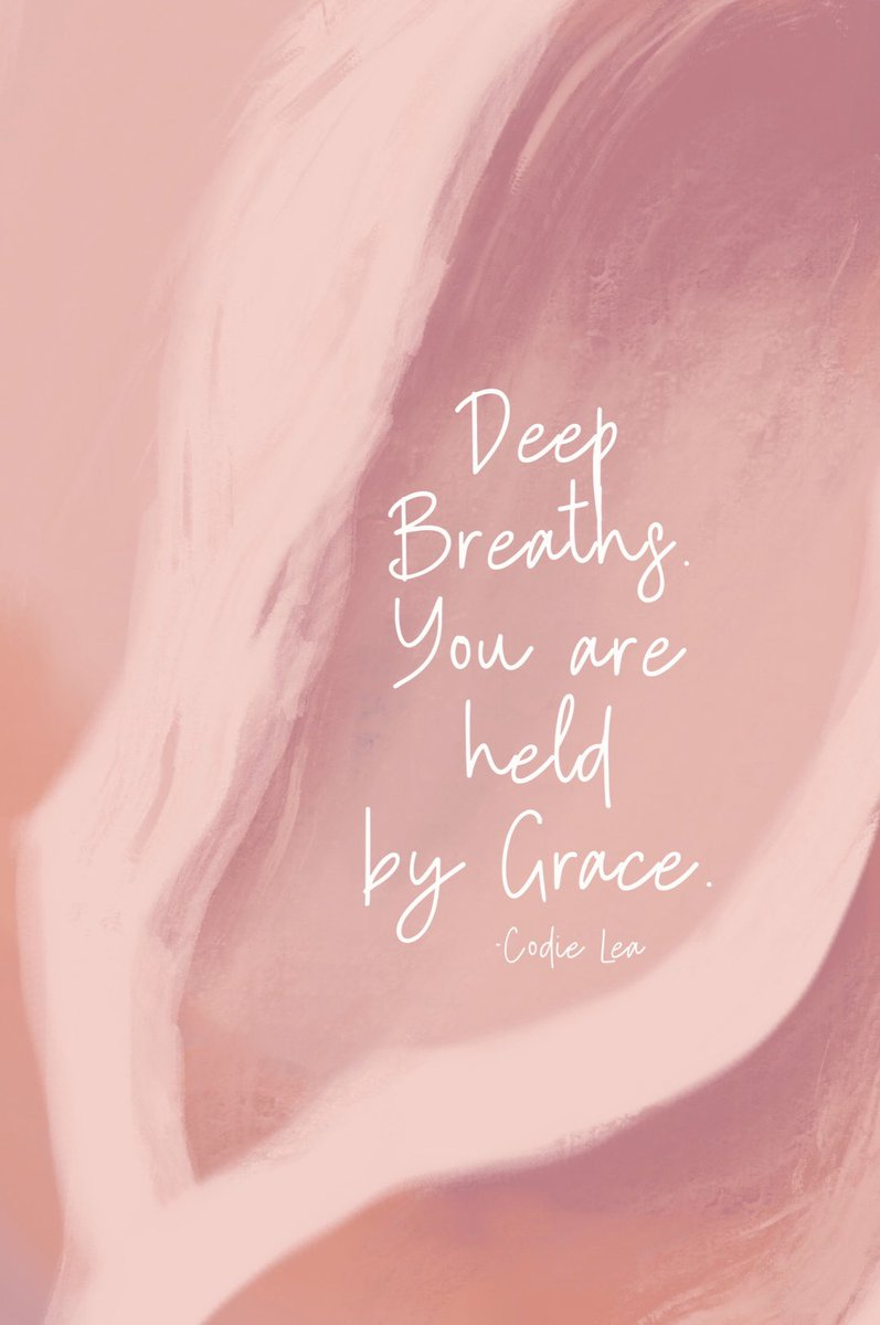 Breath deep.   Today and everyday, know that you are held by Grace.   When things feel exhausting or overwhelming, when you feel like you can quite find yourself, know that you are safe to surrender.  coach #lifecoachingforwomen #liveauthentically #livefullyalive #faithandgrace https://t.co/HYnCNNE8Gu
