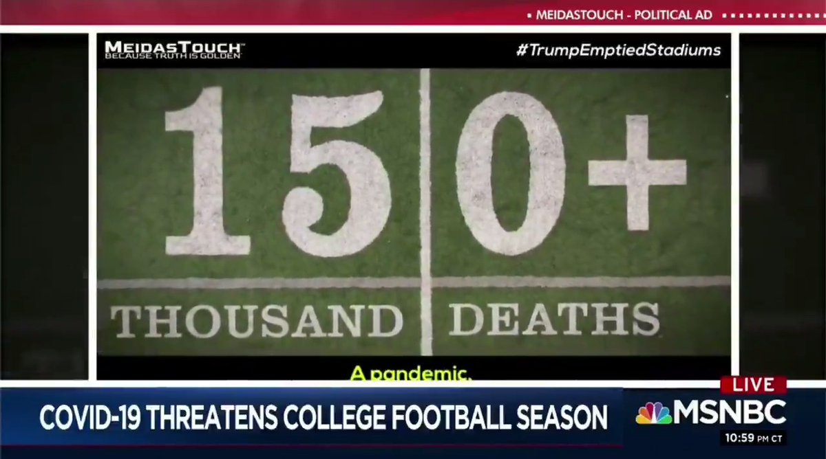 Did you see our ad #TrumpEmptiedStadiums on @11thHour tonight?