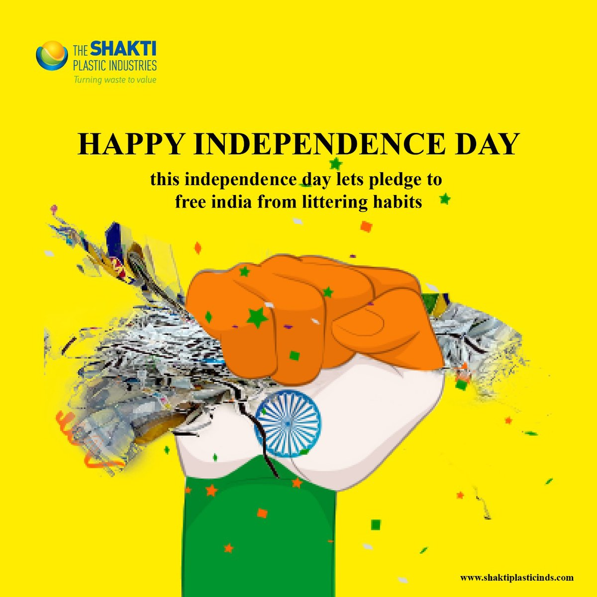 This independence day lets pledge to free india from littering habits,  HAPPY INDEPEDENCE DAY 🇮🇳 https://t.co/9WhDZVqaND