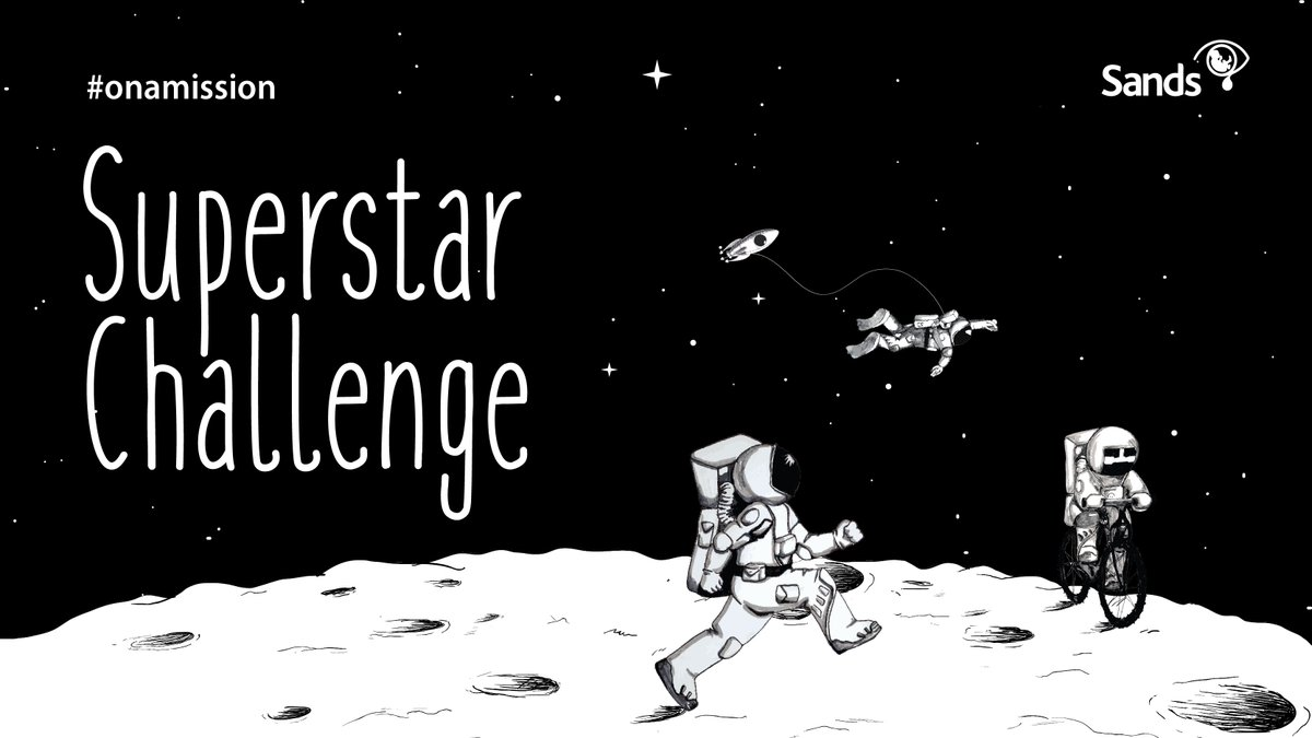 Take part in our #SuperstarChallenge & do 50k your way. Many of you have already join our mission to the Moon but there is always room for more  Take part & help Sands continue to support families after the loss of a baby  🚀 https://t.co/ARmWofpdEb   #SandsOnAMission #babyloss https://t.co/qZvJvyXaBP