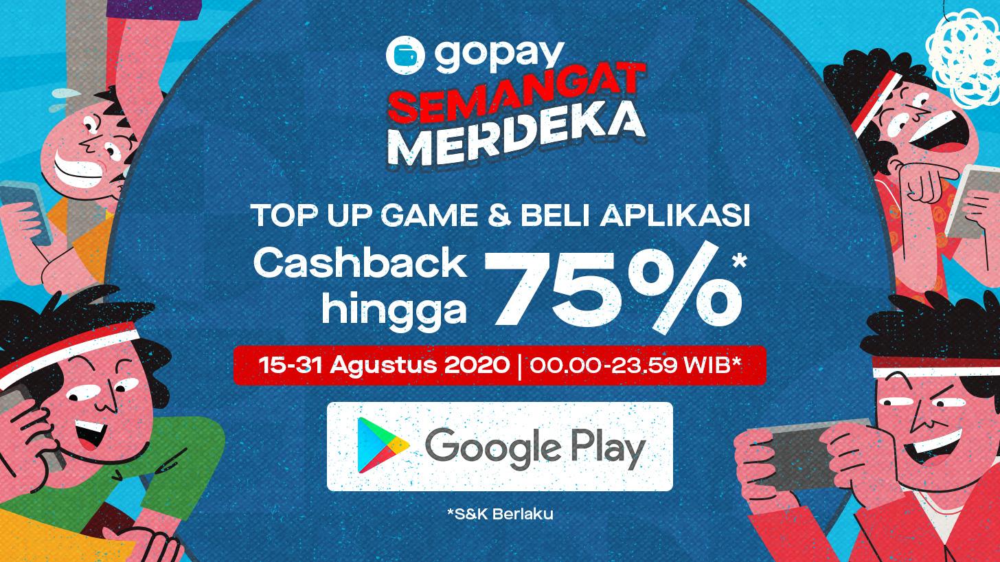 Gopay Indonesia V Twitter Sekarang Kamu Bisa Merdeka Top Up Game Dan Beli Aplikasi Apa Pun Di Google Play Karena Bisa Lebih Hemat Di Promo Semangat Merdeka Yang Bakalan Kasih Kamu Cashback