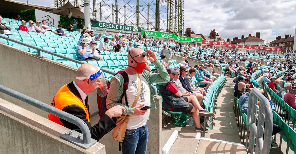 Levy calls for timeline for stadium return after caterer scores pilot success. Cricket at the Oval and Edgbaston has been attended by a limited number of fans. thecaterer.com/news/levy-larg…