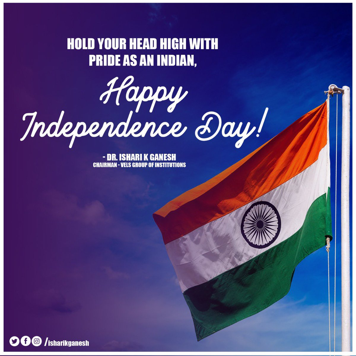 Saluting every freedom fighter who gave us the freedom we are enjoying today. Happy Independence Day! . #drisharikganesh #indepenceday #India #pride https://t.co/eg6cuj0dpu