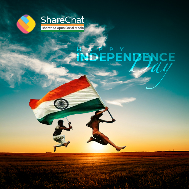 ShareChat wishes every Indian a very Happy #IndependenceDay https://t.co/vg7ELDDuOl