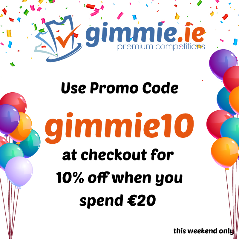 10% off all competitions !! Hurry grab a bargain.  https://t.co/fb738yXUNV  🧡We now accept Revolut / PayPal / Visa / Mastercard  #win #ireland #gimmie #competition https://t.co/1bbV9xVML0