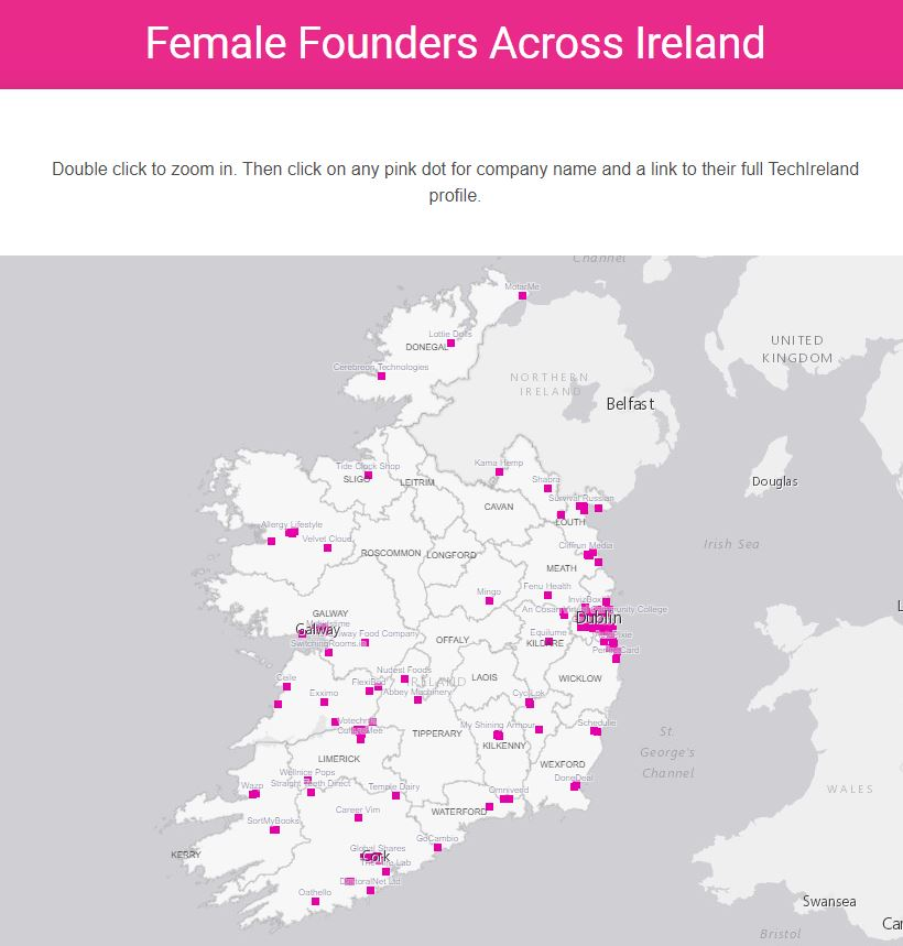 Discover your nearest female-founded company using our #FemaleFounder interactive map: https://t.co/KBbABiImLa  Zoom in, click and explore.  #Ireland #WomenInTech #Innovation https://t.co/2btqyVrj3O
