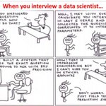 Image for the Tweet beginning: When you interview a #DataScientist  🧠