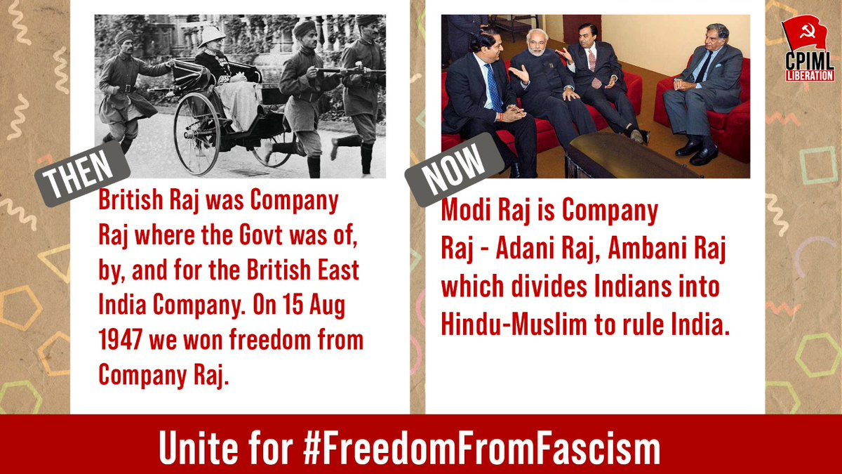 Fight for freedom from Company Raj & #FreedomFromFascism