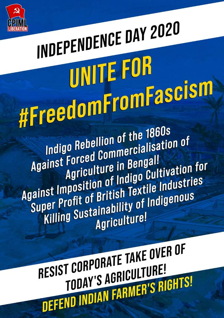 Indigo Rebellion of the 1860s Against Forced Commercialisation of Agriculture in Bengal! Resist Corporate Take Over of Todays Agriculture! #FreedomFromFascism