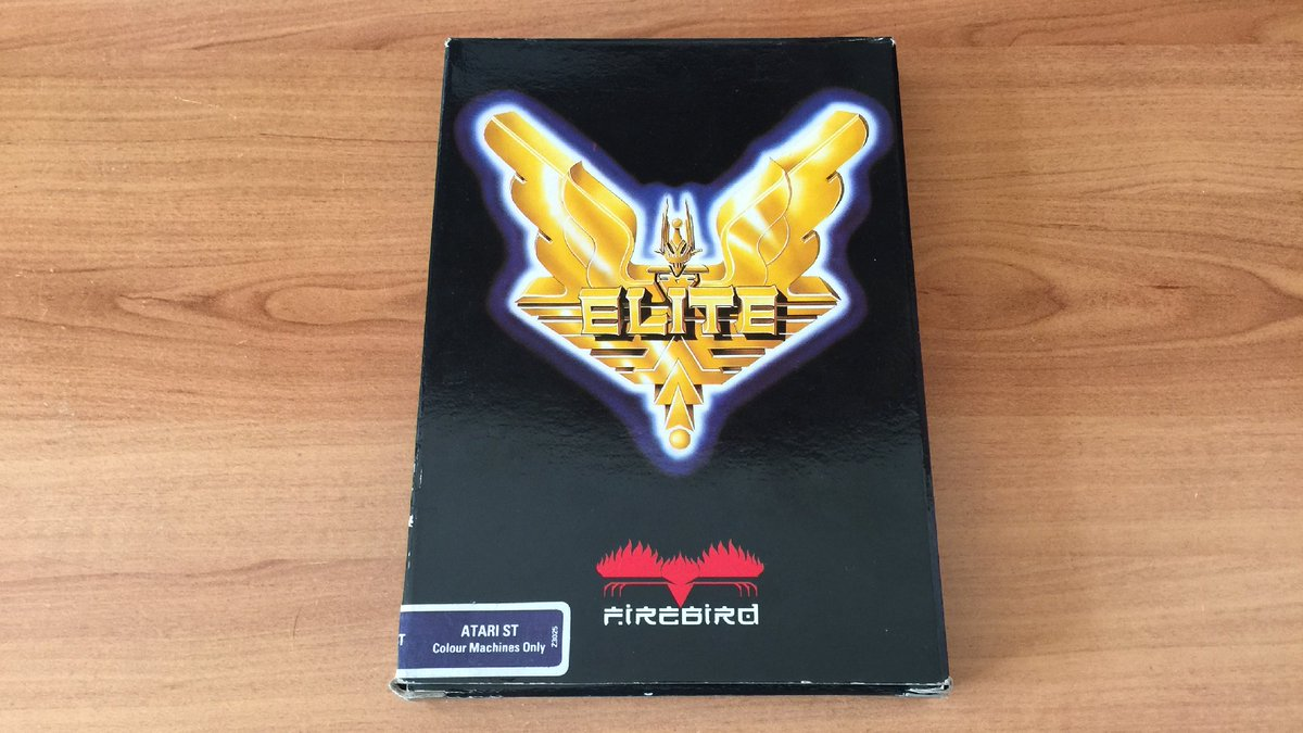 One of my favorite games of all time has returned to my collection! 💫  Welcome back home Elite! I missed you so much, you know 😀  Want to see more pictures ? Let's go commanders! 🚀  (1/7) ⤵️  #Elite #DavidBraben #IanBell #Firebird #Retrogaming #AtariST #BigBoxGames #BigBoxLove https://t.co/BcojebGjgQ