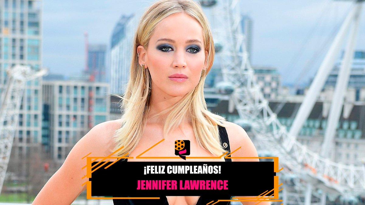 💞 Ganadora de un #Oscar y tres #GoldenGlobes, hoy cumple 30 años #JenniferLawrence.