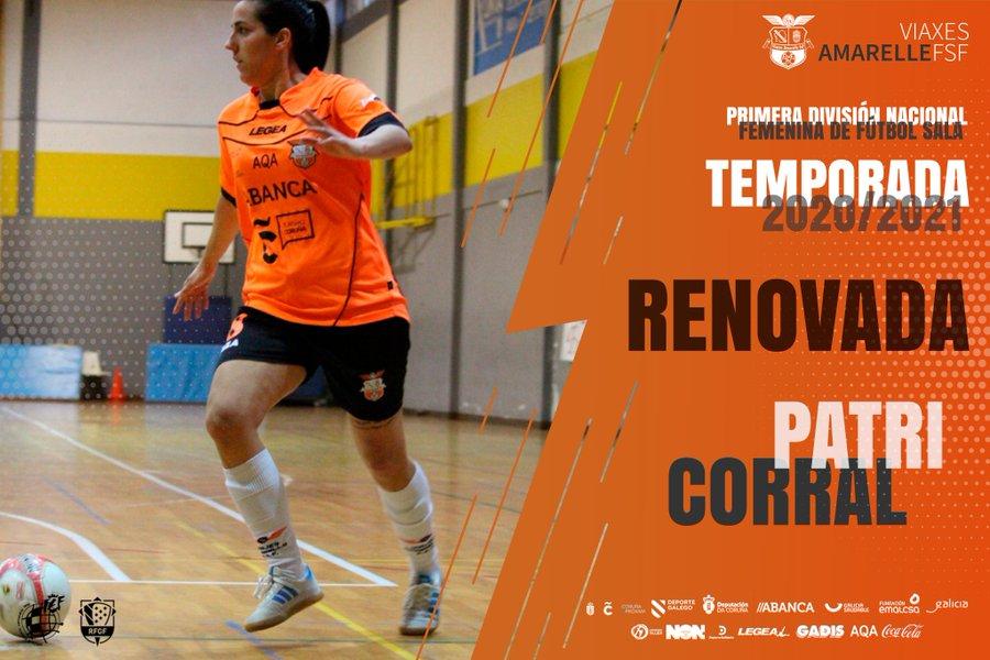 Tras conseguir el objetivo del ascenso a Primera División, la herculina Patri Corral confía en el proyecto del Viaxes Amarelle FSF