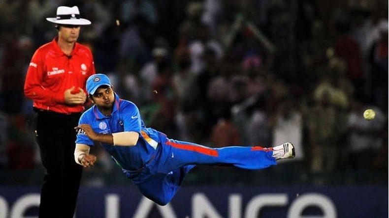 Suresh Raina fielding