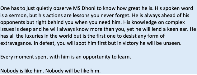 Mahi bhai! 🙏🏾 #ThankYouMSDhoni