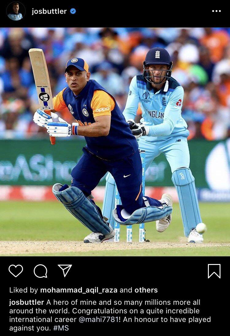 Jos Butter on MS Dhoni.  Dhoni - The Inspiration of Millions ❤️ https://t.co/b1ft5gPAxU