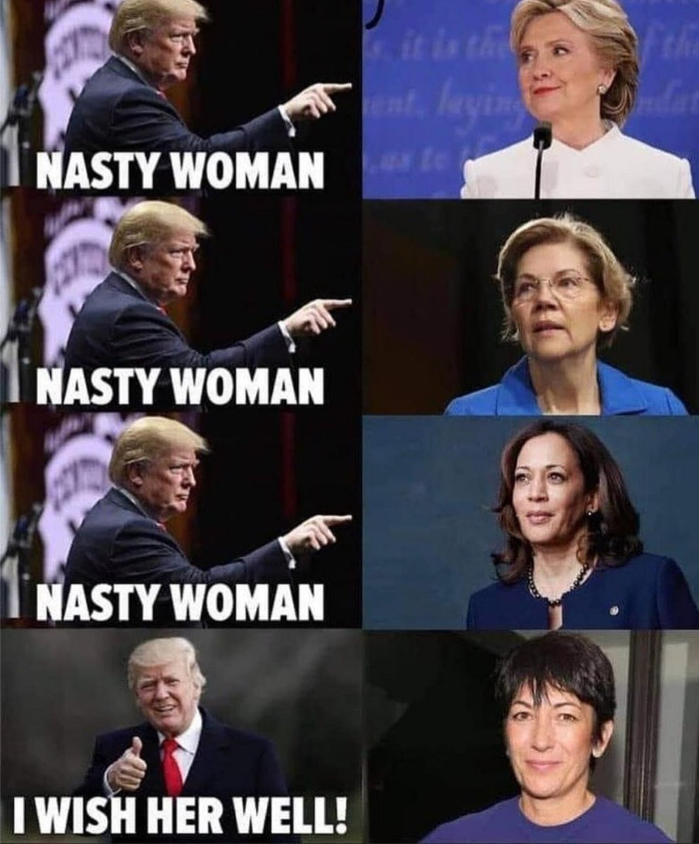 @MeidasTouch Trump is so scared. He hates women. He really hates them! #nastywomen #nastywomen #nastywoman. #NastyWomenVote But he likes his pedophile madames like #Ghislaine #GhislaineMaxwell #Epstein #JeffreyEpstein He is nasty POS! #TrumpIsALaughingStock #TrumpMeltdown