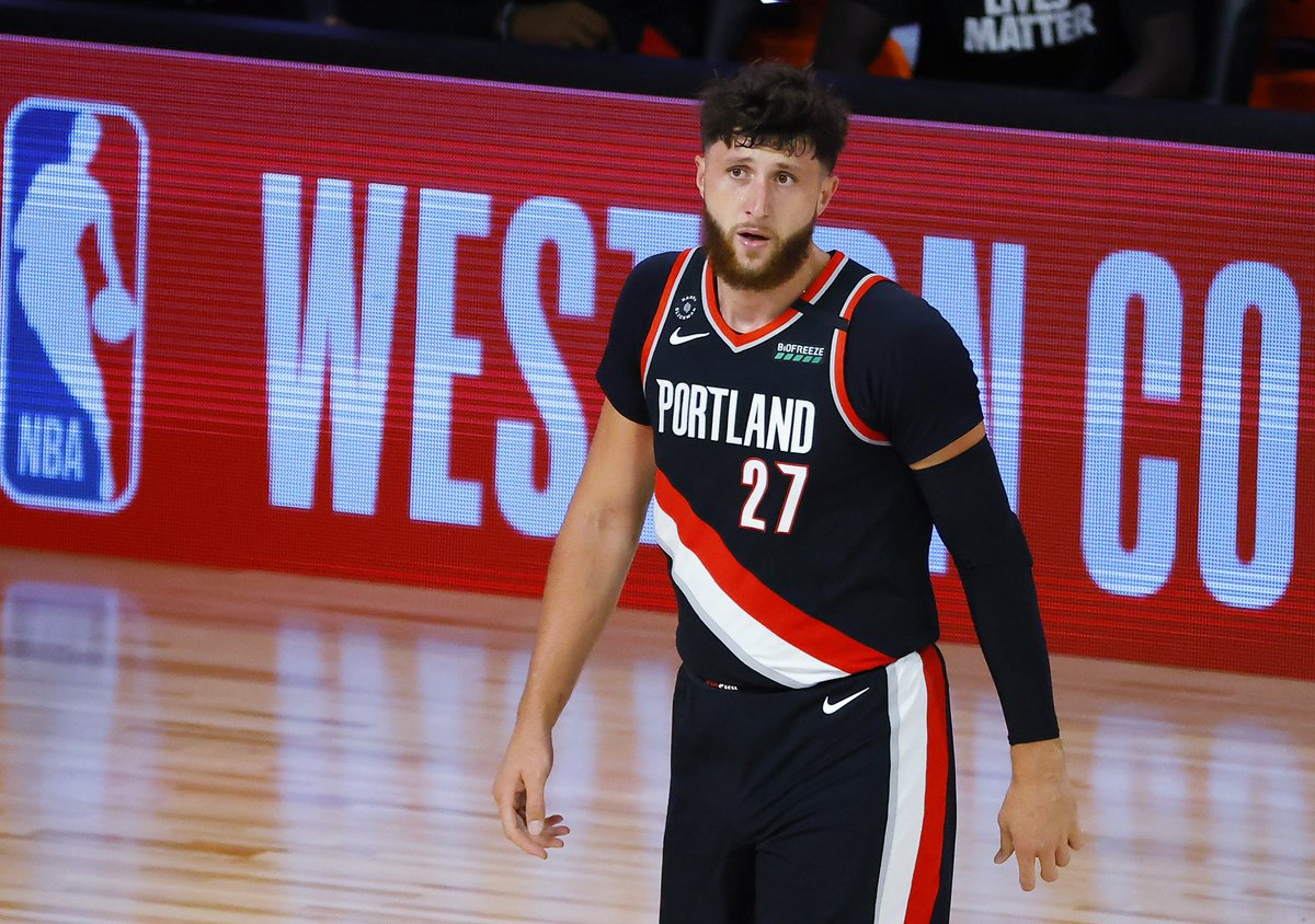 Jusuf Nurkic lost his grandmother this morning due to COVID.   Playing with a heavy heart in the biggest game of the year, he had:  22 points  21 rebounds  6 assists  2 steals 2 blocks   👏👏 https://t.co/Vt0q2EDrbC