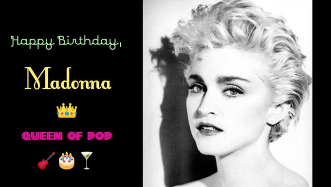 Happy birthday to the Queen of Pop and Queen of our hearts