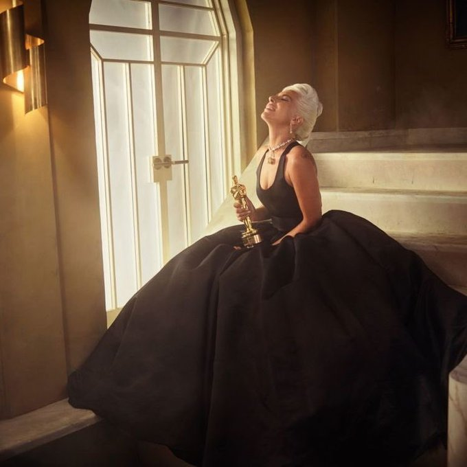 Happy Birthday In honor of her birthday here s a photo of the Queen of Pop, Lady Gaga with her Oscar!