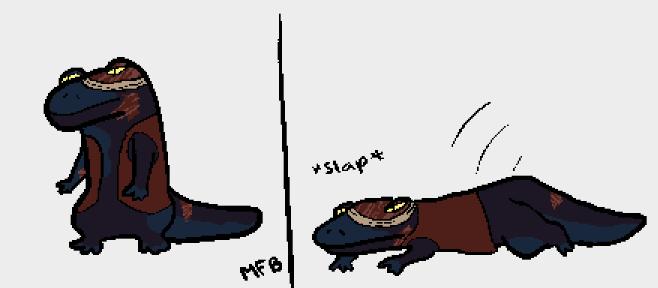Slick go sploot #giantsalamander #pirate #art #furry #amphibian