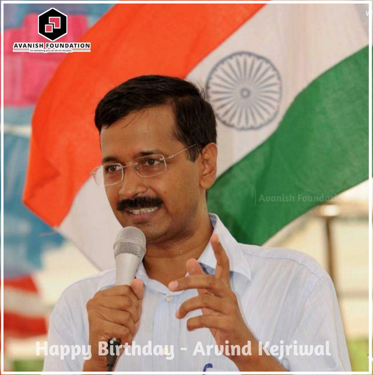#HappyBirthdayAK Happy Birthday @ArvindKejriwal sir https://t.co/IphOyFQDQ4