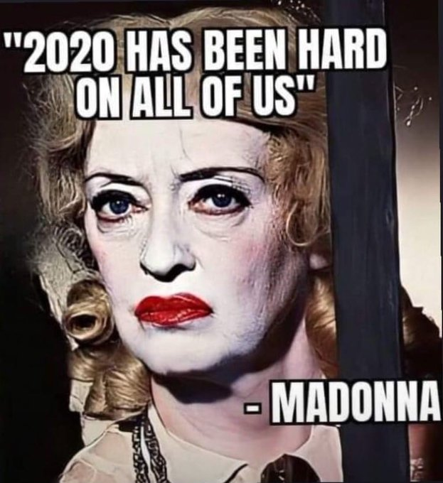 I still wish Madonna a happy birthday as its been a tough year for the old gal