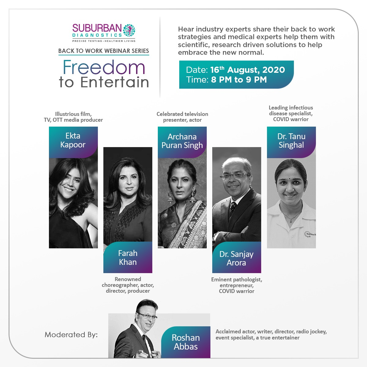 """Every industry has its own needs and challenges tackling COVID-19. Join our panel discussion on  """"Freedom to Entertain"""" as we address the specific challenges faced by the entertainment industry. Register here:      Register now:"""