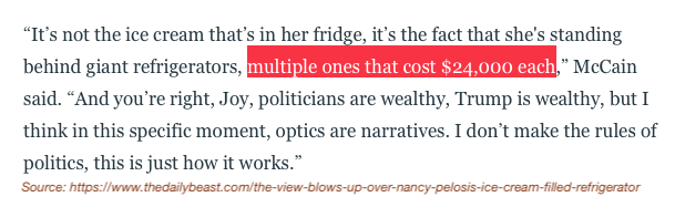 Just one of Nancy Pelosi's refrigerators is roughly the median household income for working people in my community (the Westlake District). We need leaders that address the concerns of the working poor, not ones that flaunt their obscene wealth.  @SpeakerPelosi @sfpelosi