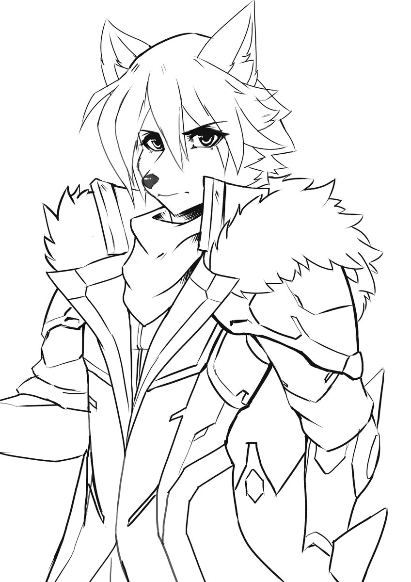 Sketch of Arvik. Currently a WIP. Thanks to everyone stopping by at my stream! ^^ https://t.co/dOmtajmP5w