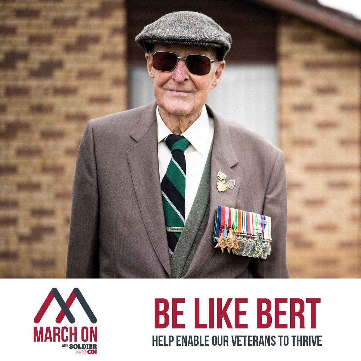 "Soldier On on Twitter: """"They all need care"" Bert said and he is doing his  part and keeping fit in his quest to raise money for Veterans and their  families. Bert is"