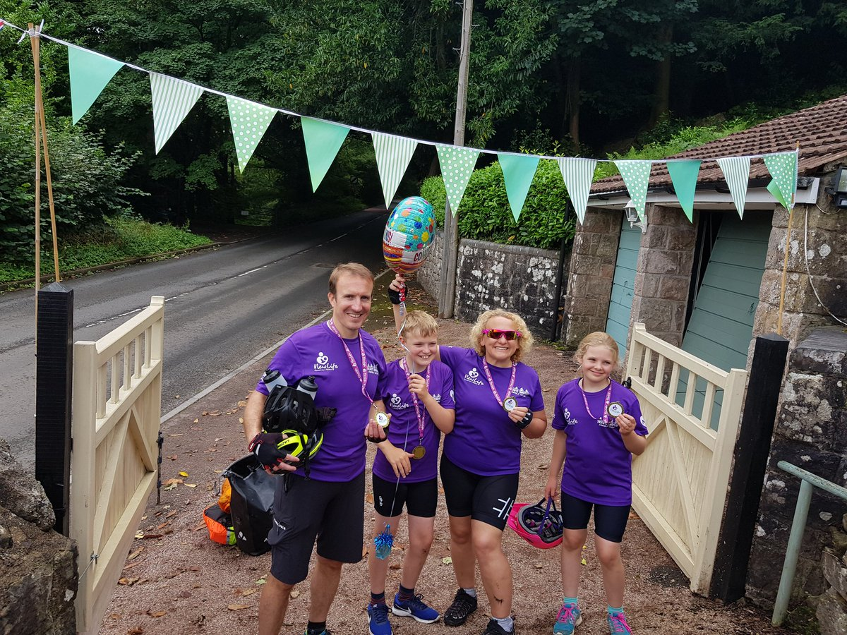 We made it!!!!! @JamesBates  76 miles, 3 days, no punctures, 2 tired happy children, and nearly £1600 raised for an amazing cause. A great last day into Wales and through the Wye Valley.  Any last minute donations would be so much appreciated.   https://t.co/Yp9GTW5BjD https://t.co/6rvinbdsr0