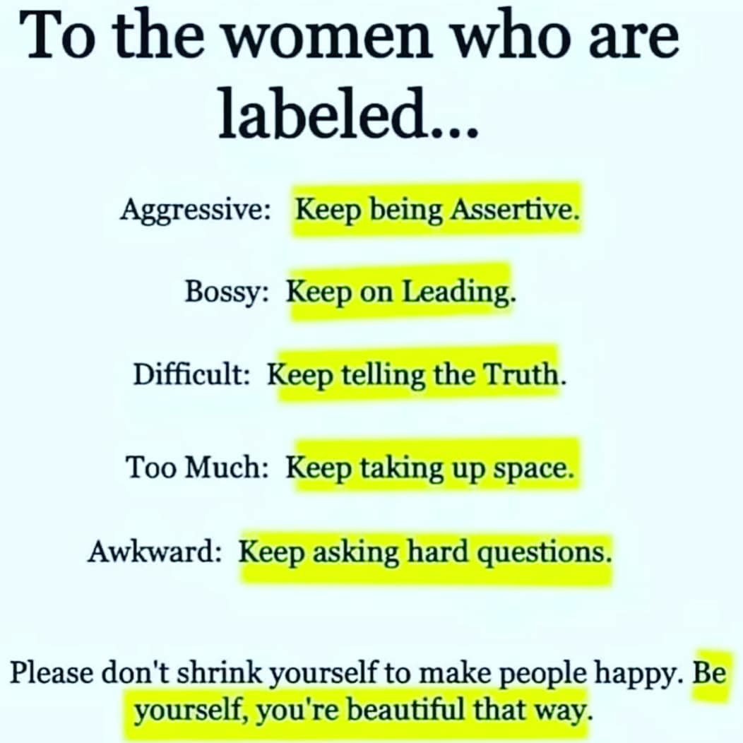 To the women who are labelled 👇 https://t.co/bZHtDhcnFs