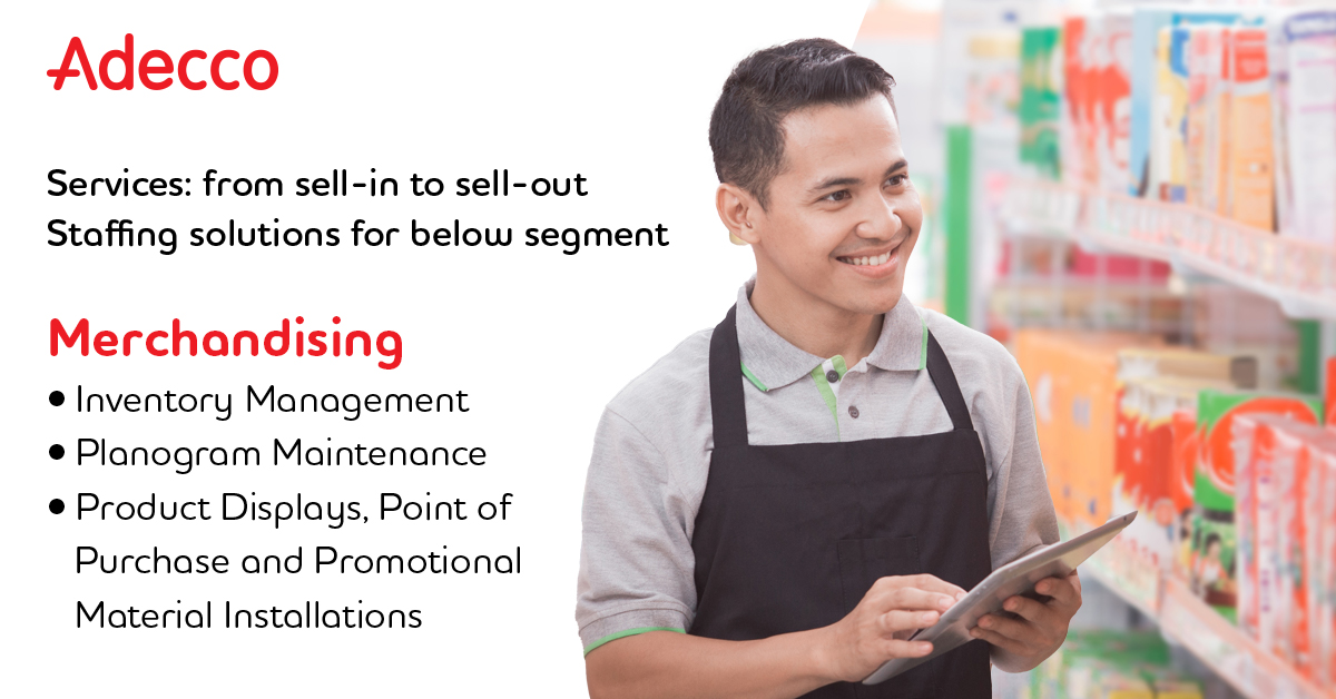 Make your store visually appealing to your customers and increase your business revenue with Adecco's outsourced merchandisers for both retail and e-commerce.  Get in touch with us at adeccoae.info@adecco.com. #merchandising #merchandiser #retailmerchandising #productdisplay https://t.co/0JflTTK9fB