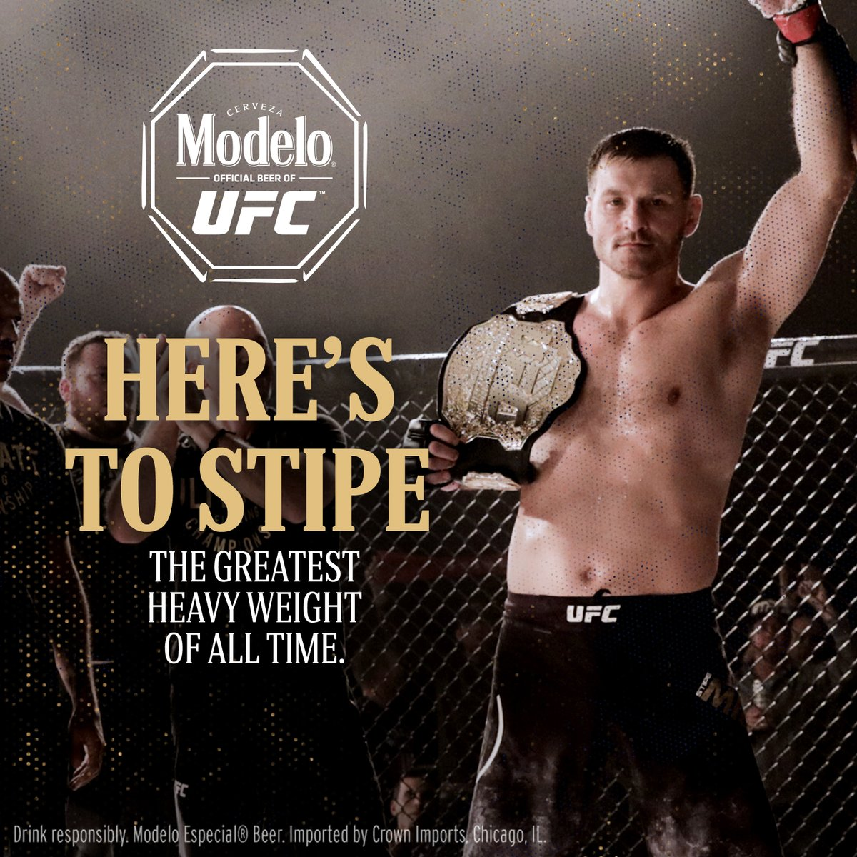 Stipe and his Fighting Spirit were on full display last night to take it all @UFC 252. Congratulations on another well-deserved win @stipemiocic ¡Salud! https://t.co/6B4Tjyp9M5