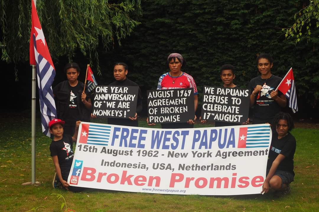 #FreeWestPapuaCampaign UK remembers 58 years of 'broken promise'.   On August 15, 1962, secret negotiations between #Indonesia, the #Netherlands and the #UnitedStates governments decided the fate of our people. No… https://t.co/2AU1iyEqlY https://t.co/kSijUY6pT1